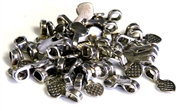 20pc antique silver heart bails