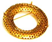 1pc japaneese sieve findings donut brooch gold plated 40mm