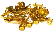 5pc gold plated assorted rhinestone settings