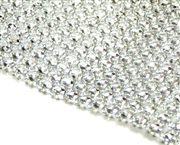 20cm 8 wide stone setting mesh 4mm silver plated acrylic