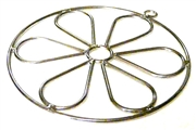 1pc flower round wire base silver plated