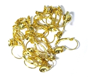 5pr Hinged Earring Wires with Cup 6mm Gold Plated