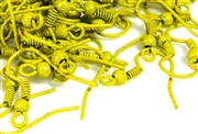 10pr coloured earring wires chartruese w/loop + ball