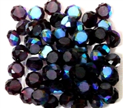 12pc Faceted Crystal Rounds 8x5mm Purple