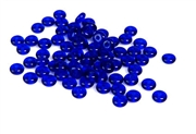 50pc 4mm czech glass rondelles cobalt blue