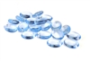 10pc oval drops czech glass sapphire blue 10x6mm