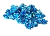 30pc aquamarine blue 10mm aluminium roses