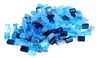 10gm mini rectangle mix blue 4x5mm