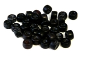 25pc 6mm crow beads black matte
