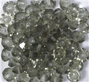 15pc 8mm Glass Firepolish Rondelle Black Diamond