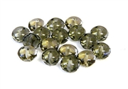 10pc gemstone donuts czech glass 6x3mm black diamond