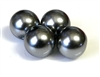 6pc czech glass pearls 16mm grey