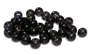 20pc 8mm glass rounds black diamond
