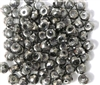 20pc 6mm  Silver Faceted Glass Rondelles