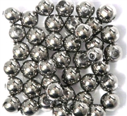 10pc 8mm Glass Rounds  Silver