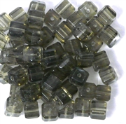 10pc 8mm Glass Cubes Black Diamond