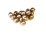 50pc 4mm coffee and cream  glass pearls