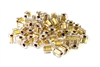15gm 4mm miyuki cubes clear gold lined