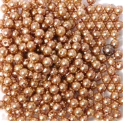 100pc 2mm Assorted Glass Pearls Coffee and Cream