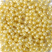 100pc 3mm Assorted Glass Pearls Light Yellow