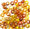 10gm 1/0 seed beads topaz brown mix