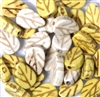 15pc Topaz White Leaves
