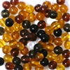25pc 6mm Glass Rounds Topaz Mix
