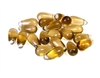 15pc czech glass teardrops smokey topaz 5x10mm