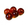 3pc czech glass rounds topaz 12mm