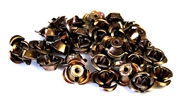 30pc chocolate 10mm aluminium roses