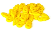 10pc czech glass arrow beads yellow