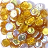25pc czech glass coins double drilled topaz ab