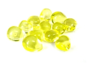 10pc czech glass teardrops large jonquil