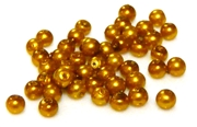 100pc 3mm glass pearls topaz