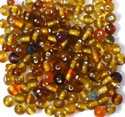 50pc 4mm Glass Round Mix Topaz Brown
