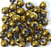 10pc 10mm Glass Rounds Bronze
