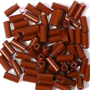 10gm Bugle beads topaz brown