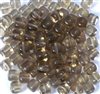 25pc 6mm Glass Cubes Smokey Topaz