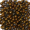 50pc 4mm Assorted Glass Rounds Bronze