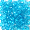 25pc 6mm Glass Crackle Glass Rounds Aquamarine Blue