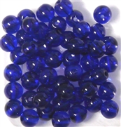 10pc 8mm Glass Rounds Cobalt Blue