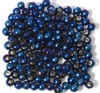50pc 4mm Glass Rounds Metallic Blue