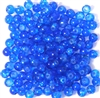 50pc 4mm Crackle Glass Rounds Sapphire Blue