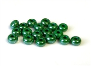 5gm 1/0 seed beads dark green luster