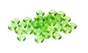 50pc 4mm czech glass rondelles peridot green
