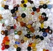 50pc 4mm Assorted Firepolish Round Mix