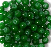25pc 6mm Glass Rounds Green