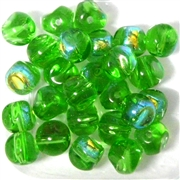 10pc 10mm Nugget Beads Peridot AB