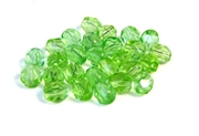 25pc 6mm peridot green firepolish crystals