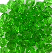 10pc 8mm Glass Firepolish Rounds Light Green